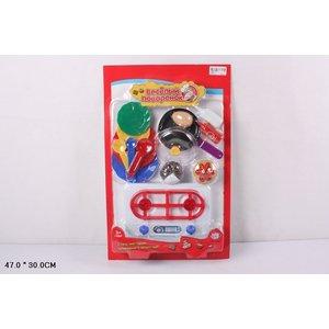 Игровой набор Play Smart кухонные принадлежности и муляжи Веселый поваренок (Р41347)