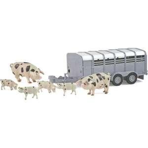 Прицеп Tomy Фермерский прицеп со свинками (ТО42995) куплю прицеп торговый купава минск