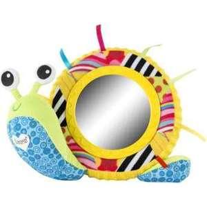 Игрушка мягкая Tomy Lamaze Улитка Мишель с зеркальцем (ТО27168) tomy игрушка с присоской на стульчике веселые утята tomy lamaze