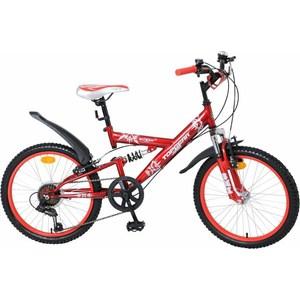 Велосипед Top Gear Юниор Boxer 6 скоростей Shimano TY18/TX30 красн/сереб (ВН20056)