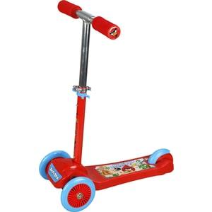 Самокат 3-х колесный 1Toy Angry Birds управление наклоном Т57625 деревянная игра angry birds 1toy