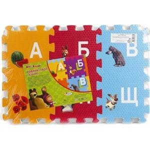 Мягкий пол Играем вместе ''Маша и медведь'' с вырезанными буквами (FS-ABC-03-MM)