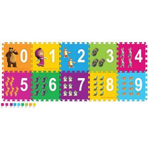 Коврик-пазл Играем вместе Маша и медведь с вырезанными цифрами (FS-NUM-03-MM)