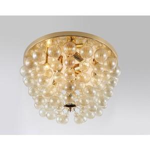 Потолочная люстра Crystal Lux Mallorca PL8 Gold/Amber цена и фото