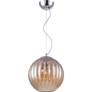 Подвесной светильник Crystal Lux Globo SP3 Amber подвесной светильник charme sp3 3 led gold transparent crystal lux 1154265