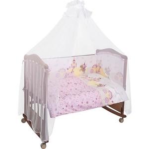 Комплект в кроватку Сонный Гномик Золушка 4 предмета розовый (КСЗ4-0570407)