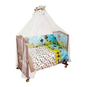 Комплект в кроватку Сонный Гномик каникулы 4 предмета голубой (КСК4-0571408)