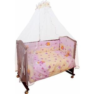 Комплект в кроватку Сонный Гномик Мишкин сон 4 предмета розовый (КСМ4-0568403/2)
