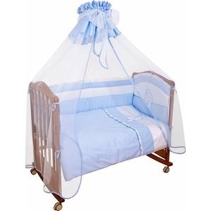 Комплект в кроватку Сонный Гномик пушистик 3 предмета голубой (КСП3-0376310/1) комплект в кроватку сонный гномик комплект в кроватку считалочка 3 предмета бежевый