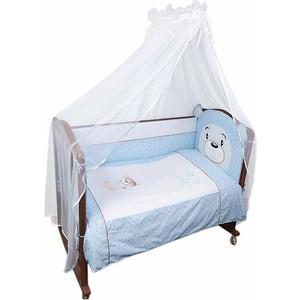 Комплект в кроватку Сонный Гномик Умка 3 предмета голубой (КСВ3-0364376/1) комплект в кроватку сонный гномик комплект в кроватку считалочка 3 предмета бежевый