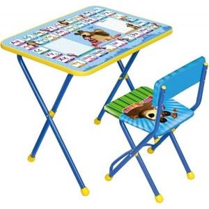 Набор мебели Nika Познайка стол стул Азбука Маша и Медведь (КНП2-0282КП2/9) полимербыт красный стол азбука
