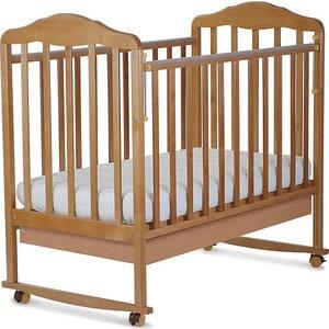 Кровать СКВ Компани Березка опускающаяся стенка колесо качалка ящик накладка ПВХ бук (КБ121-0299121116) кроватка скв березка 121116 бук