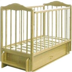 Кровать СКВ Компани Березка опускающаяся стенка поперечный и продольный маятник ящик качалка накладка ПВХ береза (КБ126-0300126005)