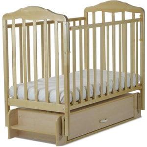 Кровать СКВ Компани Березка опускающаяся стенка поперечный и продольный маятник ящик качалка накладка ПВХ бук (КБ126-0300126006) кроватка скв березка 121116 бук
