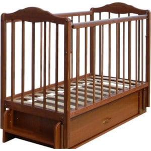 Кровать СКВ Компани Березка опускающаяся стенка поперечный и продольный маятник ящик качалка накладка ПВХ Орех (КБ126-0300126007)