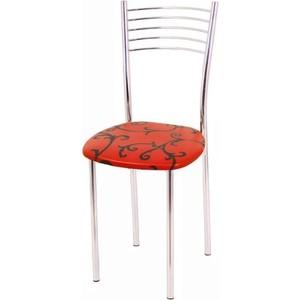 Стул Мебель из Стекла Тюльпан1 ДП28 красный, 2 шт