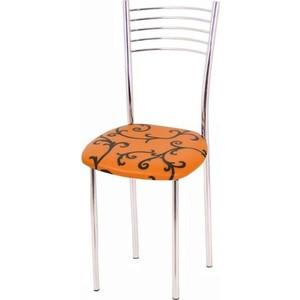 Стул Мебель из Стекла Тюльпан 1 ДП 28 оранжевый, 2 шт