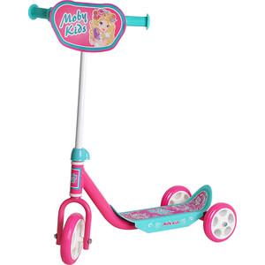 Самокат 3-х колесный Moby Kids Мечта розовый (64637) самокат трехколесный moby kids мечта 64638