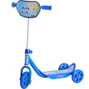 Самокат 3-х колесный Moby Kids Мечта синий (64638) самокат 3 х колесный 21st scooter 21st scooter самокат 3 х колесный maxi scooter с сиденьем синий