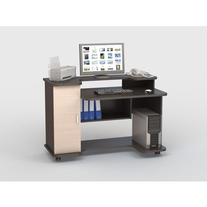 Стол компьютерный ВасКо КС 20-12 - венге/дуб молочный компьютерный стол васко kc 20 06 м1 венге шатура столы и стулья