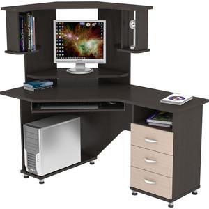 Стол компьютерный ВасКо КС 20-17 М2 - венге/дуб молочный