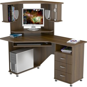 Стол компьютерный ВасКо КС 20-17 М2 - орех валенсия