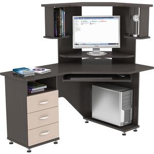 Стол компьютерный ВасКо КС 20-18 М2 - венге/дуб молочный