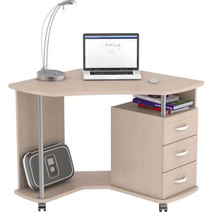 Стол компьютерный ВасКо КС 20-25 - дуб молочный письменный стол васко соло 021
