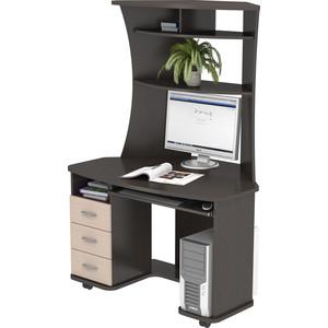 Стол компьютерный ВасКо КС 20-26 - венге/дуб молочный