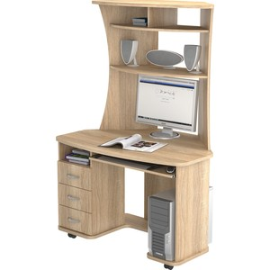 Стол компьютерный ВасКо КС 20-26 - дуб сонома письменный стол васко соло 021