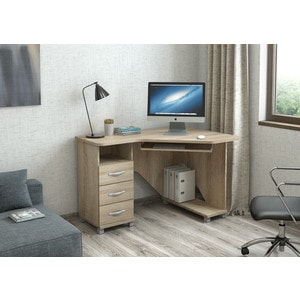 Стол компьютерный ВасКо КС 20-28 М1 - дуб сонома компьютерный стол васко kc 20 06 м1 венге шатура столы и стулья
