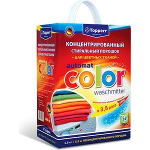 Стиральный порошок Topperr Automat color waschmittel Концентрированный для цветных тканей стиральный порошок top house концентрированный суперэффективный автомат 1 кг 804059