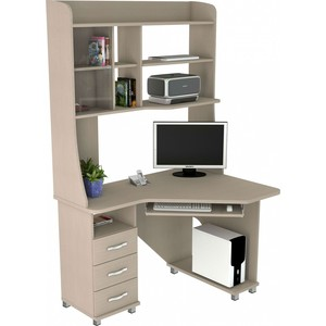 Стол компьютерный ВасКо КС 20-30 М1 - дуб молочный угловой компьютерный стол kc 20 25 дуб молочный шатура столы и стулья