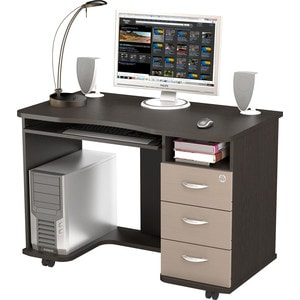 Стол компьютерный ВасКо КС 20-40 - венге/дуб молочный компьютерный стол кс 20 43 дуб молочный шатура столы и стулья