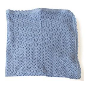 Плед EKO вязанный ажурный голубой 90х90 см (PLE-06)