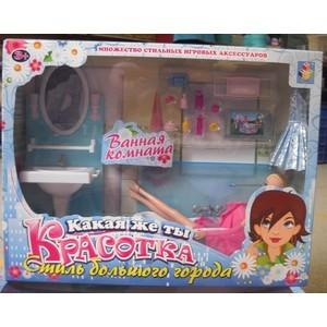 Набор мебели 1Toy Красотка с куклой ванная комната Т54501 1toy с мебелью 187 деталей красотка