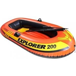Надувная лодка Intex эксплорер 200 (с58331 /58331NP) лодка intex challenger 1 68365