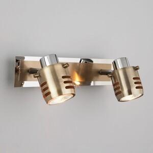 Спот Eurosvet 23463/2 хром/античная бронза подвесной светильник eurosvet 50030 2 античная бронза