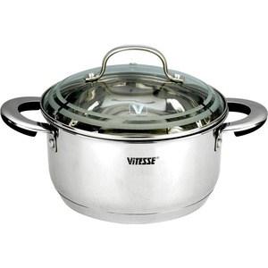 Кастрюля Vitesse VS-1574 кастрюля interos 15231 маслины 5 7 л углеродистая сталь