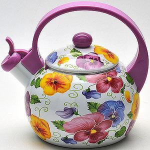 Чайник эмалированный со свистком 2.2 л Mayer and Boch (MB-22500)