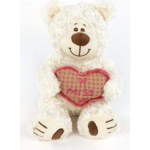 Игрушка мягкая Fluffy Family Мишка Митя с сердцем белый (681142)