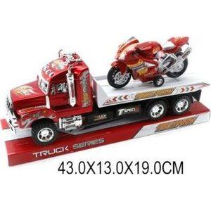 Машинка Shantou Gepai Трак с мотоциклом (818-11)