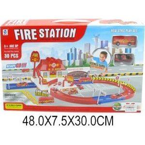 Машинка Shantou Gepai Пожарная станция с дорогой (5599-26A) shantou gepai пожарная станция p2588