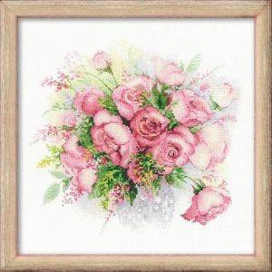 Набор для вышивания Сотвори Сама Акварельные розы (1335) gratz verlag открытка аист
