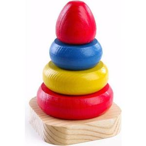 Деревянная игрушка Томик Пирамидка (202) томик пирамидка лягушонок