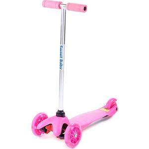 Самокат 3-х колесный Sweet Baby Triplex Light Pink самокат 3 х колесный sweet baby triplex bright up pink 378463
