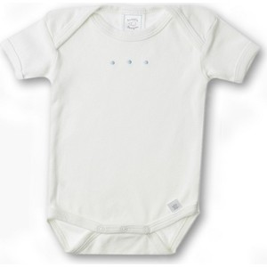 Боди SwaddleDesigns с коротким рукавом 0-3 мес Lt Blue w/PB Dots (SD-212PB-NB)