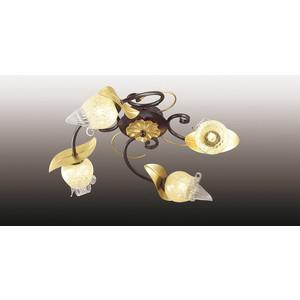 Потолочная люстра Odeon 2691/4C odeon люстра потолочная odeon anaba 4 плафона коричневый с золотом прозрачный с желтым 2691 4c