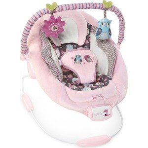 Кресло-качалка Bright Starts Комфорт и гармония Розовое гнездышко (60117)