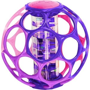 Мячик Oball с погремушкой розовый (81552)